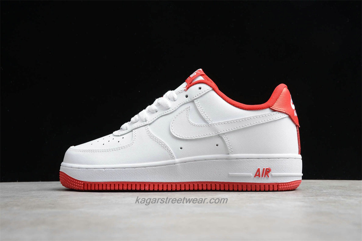 Chaussures 2020 Nike Air Force 1 07 LV8 Low CD0884 101 Blanc / Rouge