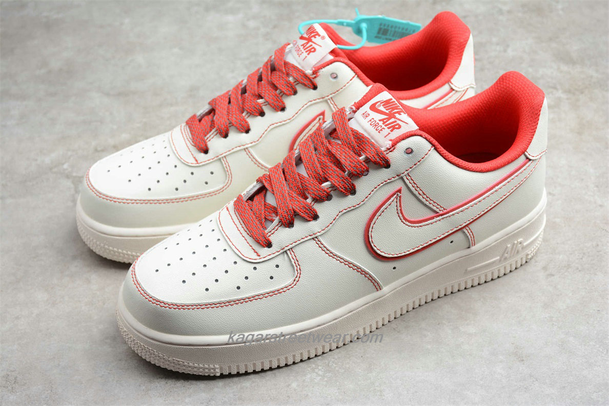 Chaussures 2020 Nike Air Force 1 07 Low 315122707 Blanc / Rouge