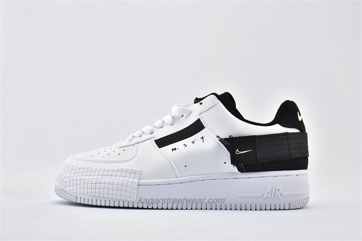 Chaussures Nike Air Force 1 AF1 TYPE Low AT7859 101 Blanc / Noir