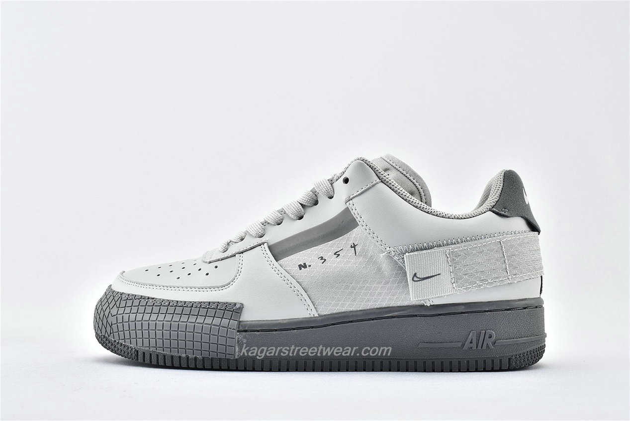 Chaussures Nike Air Force 1 AF1 TYPE Low CT2584 001 Gris clair