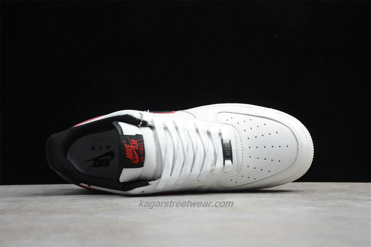 Chaussures Nike Air Force 1 Low 07 HH CJ6105 101 Blanc / Noir / Rouge