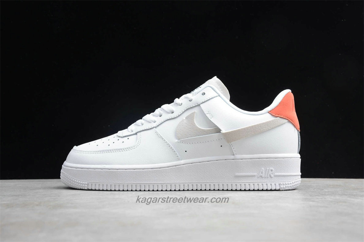 Chaussures Nike Air Force 1 07 Low LX 898889103 Blanc / Orange