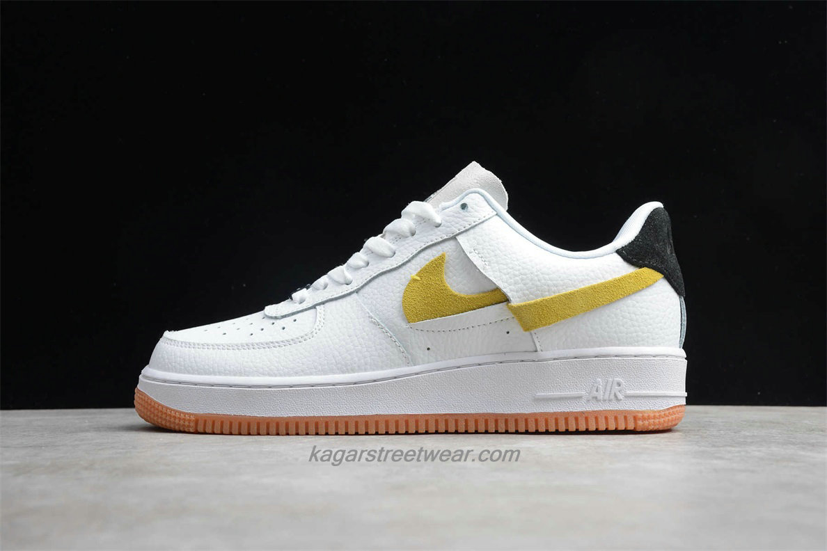 Chaussures Nike Air Force 1 07 Low LX BV0740 101 Blanc / Jaune / Noir