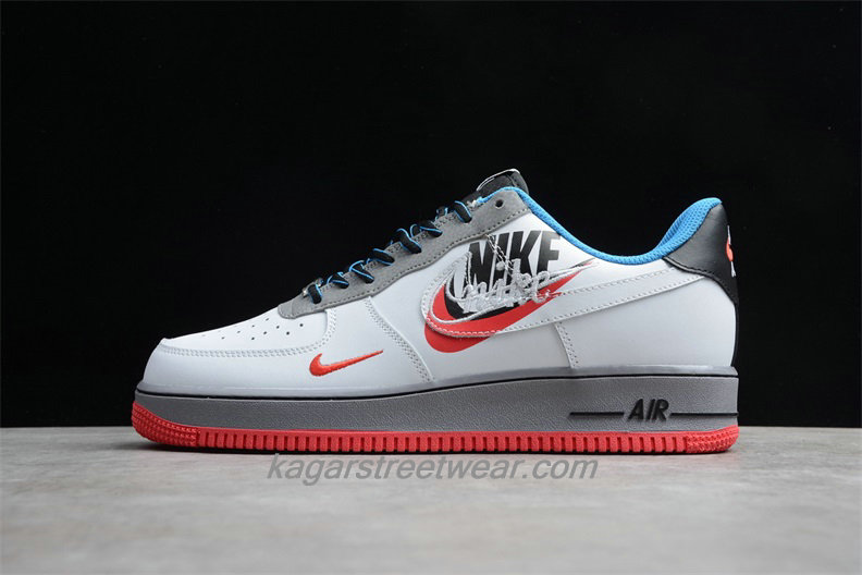 Chaussures Nike Air Force 1 Low 07 AO2441 100 Blanc / Rouge / Gris / Noir