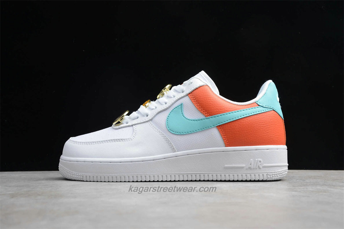 Chaussures Nike Air Force 1 Low 07 SE AA0287 106 Blanc / Verte / Orange
