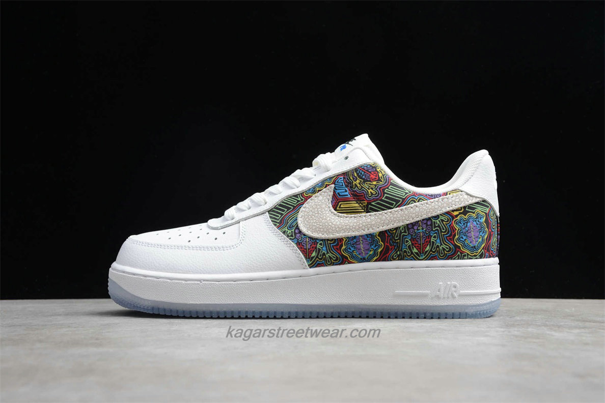 Chaussures Nike Air Force 1 Low 07 LV8 CJ1602 100 Blanc / Multicolore