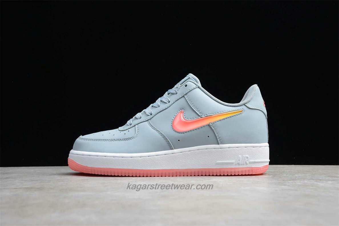 Chaussures Nike Air Force 1 Low 07 PRM 2 AT4143 400 Gris / Orange