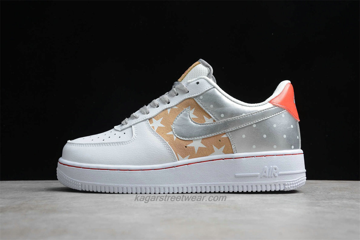 Chaussures Nike Air Force 1 Low 07 PRM 2 CT3437 100 Blanc / Kaki / Argent