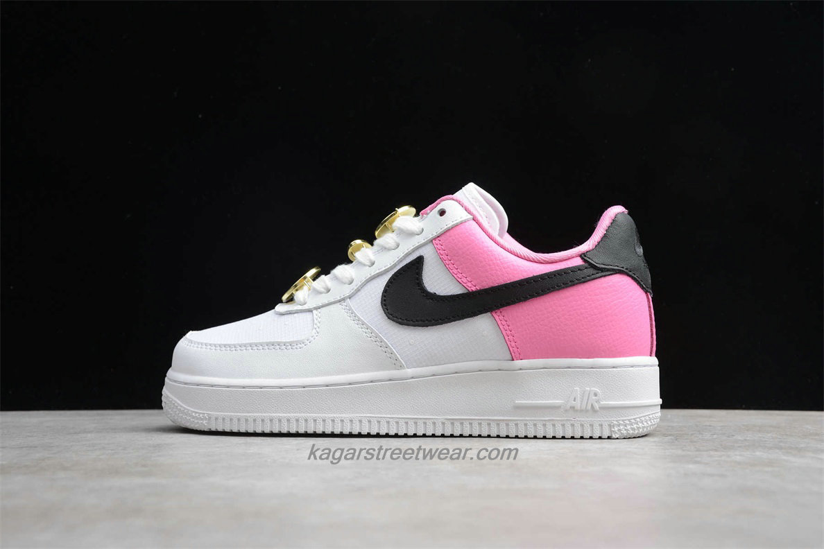 Chaussures Nike Air Force 1 Low 07 SE AA0287 107 Femmes Blanc / Rose / Noir