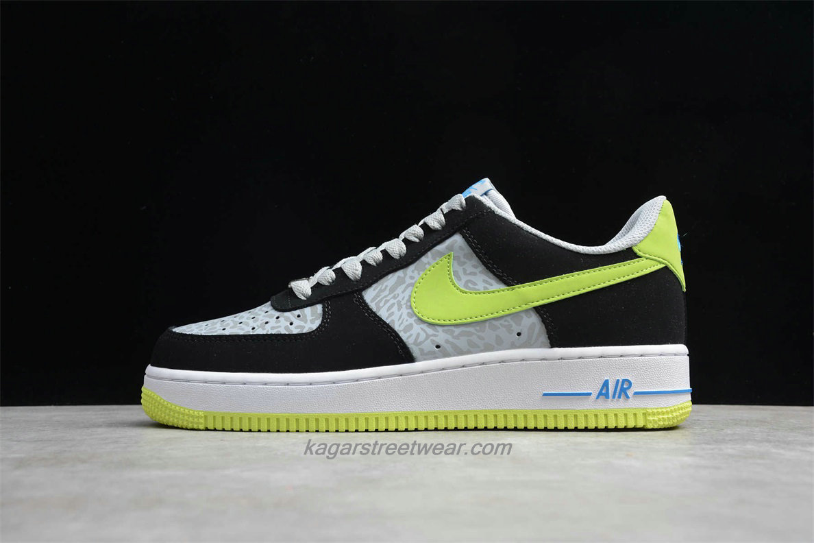 Chaussures Nike Air Force 1 Low 488298077 Noir / Gris / Verte