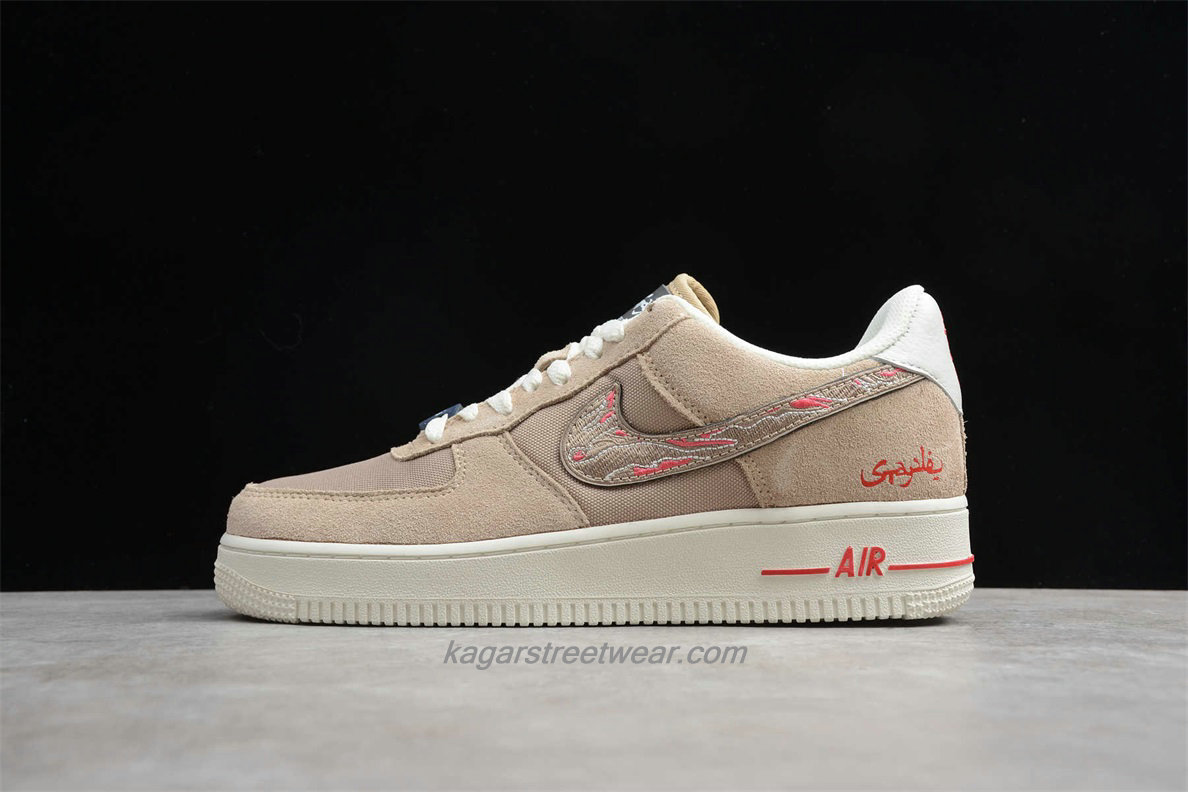 Chaussures Nike Air Force 1 Low 807618200 Kaki / Blanc