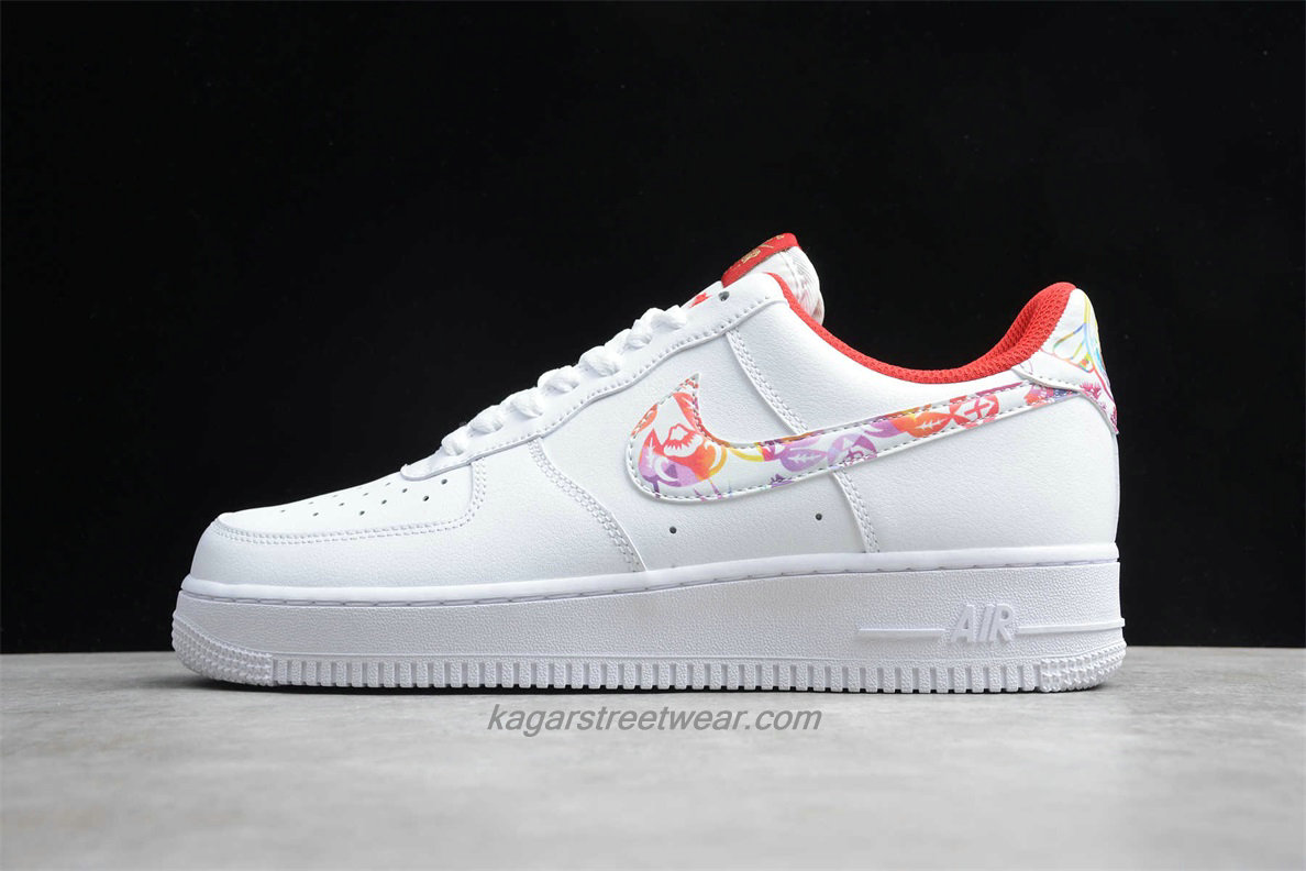 Chaussures Nike Air Force 1 Low CU2980 191 Blanc / Rouge