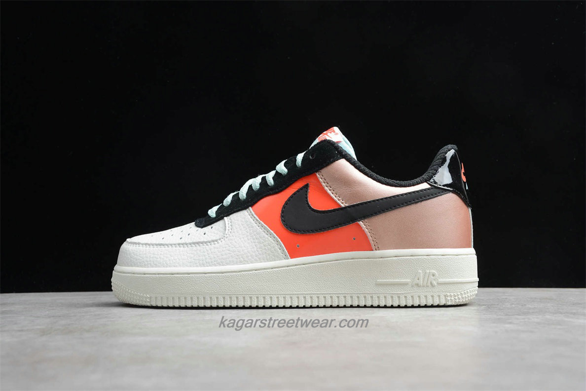 Chaussures Nike Air Force 1 Low LO CT3429 900 Blanc / Orange / Or