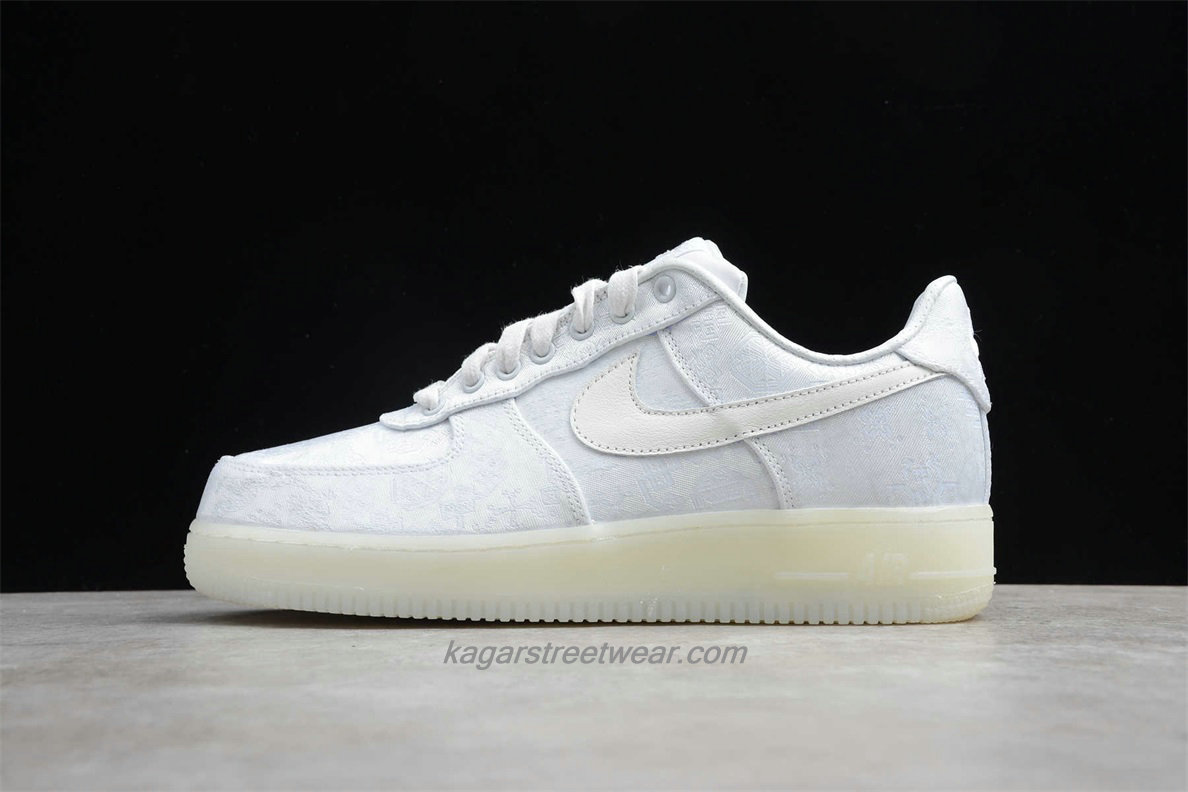 Chaussures Nike Air Force 1 Low PRM CLOT AO9286 100 Blanc
