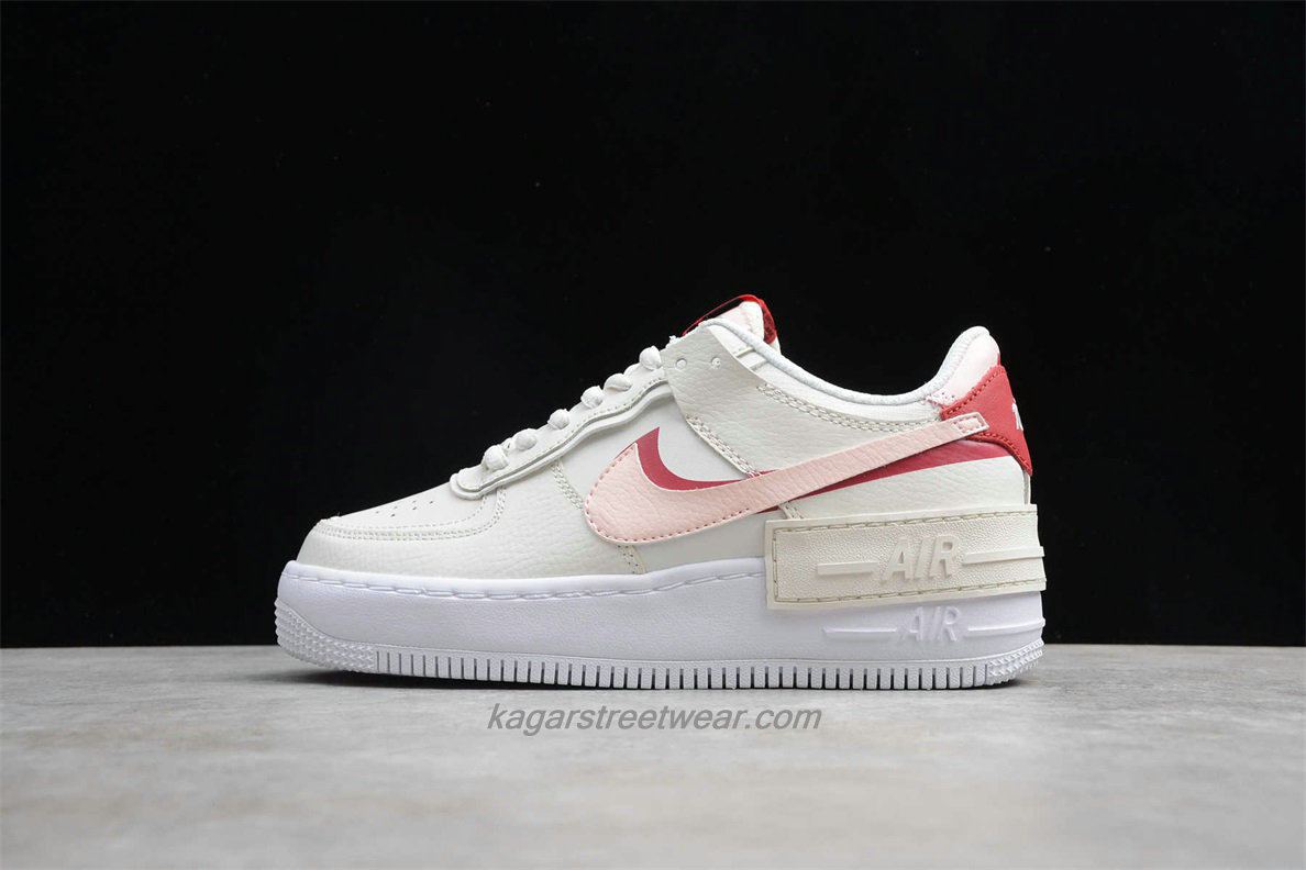Chaussures Nike Air Force 1 Shadow CI0917 003 Beige / Rose / Blanc
