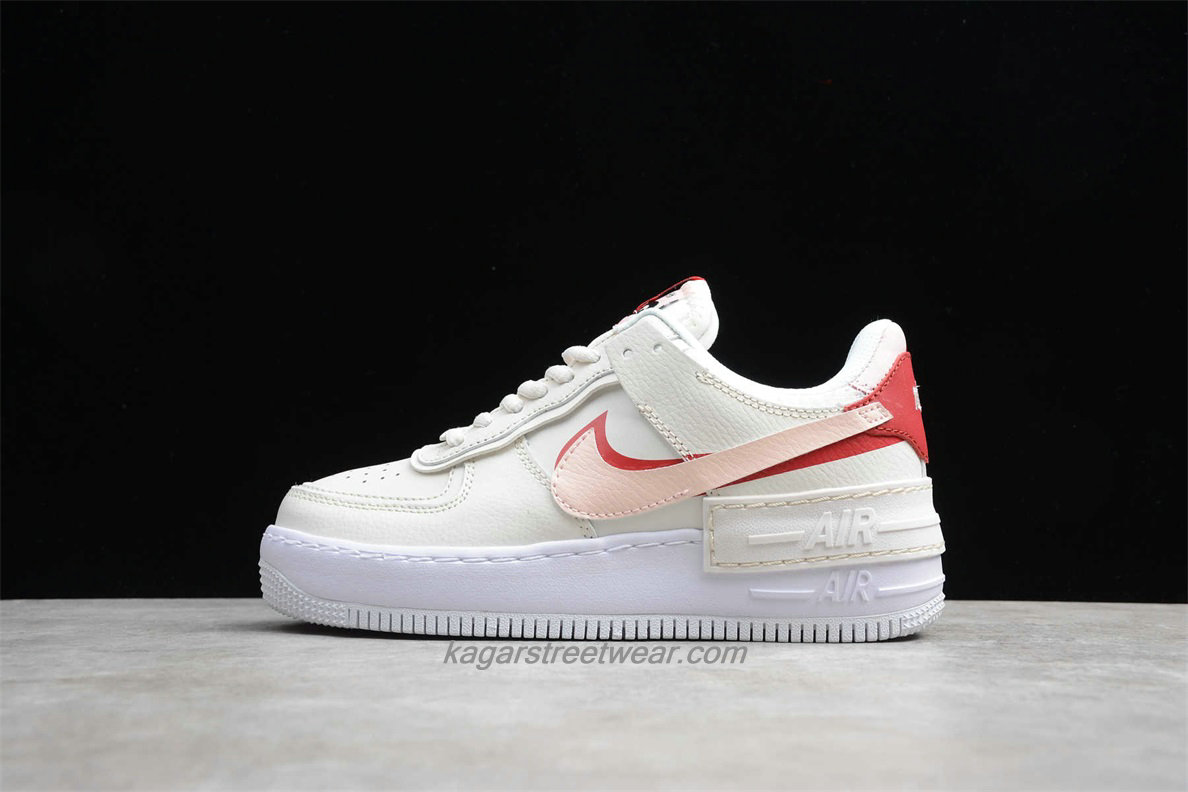Chaussures Nike Air Force 1 Shadow CI0919 003 Femmes Blanc / Rose / Rouge