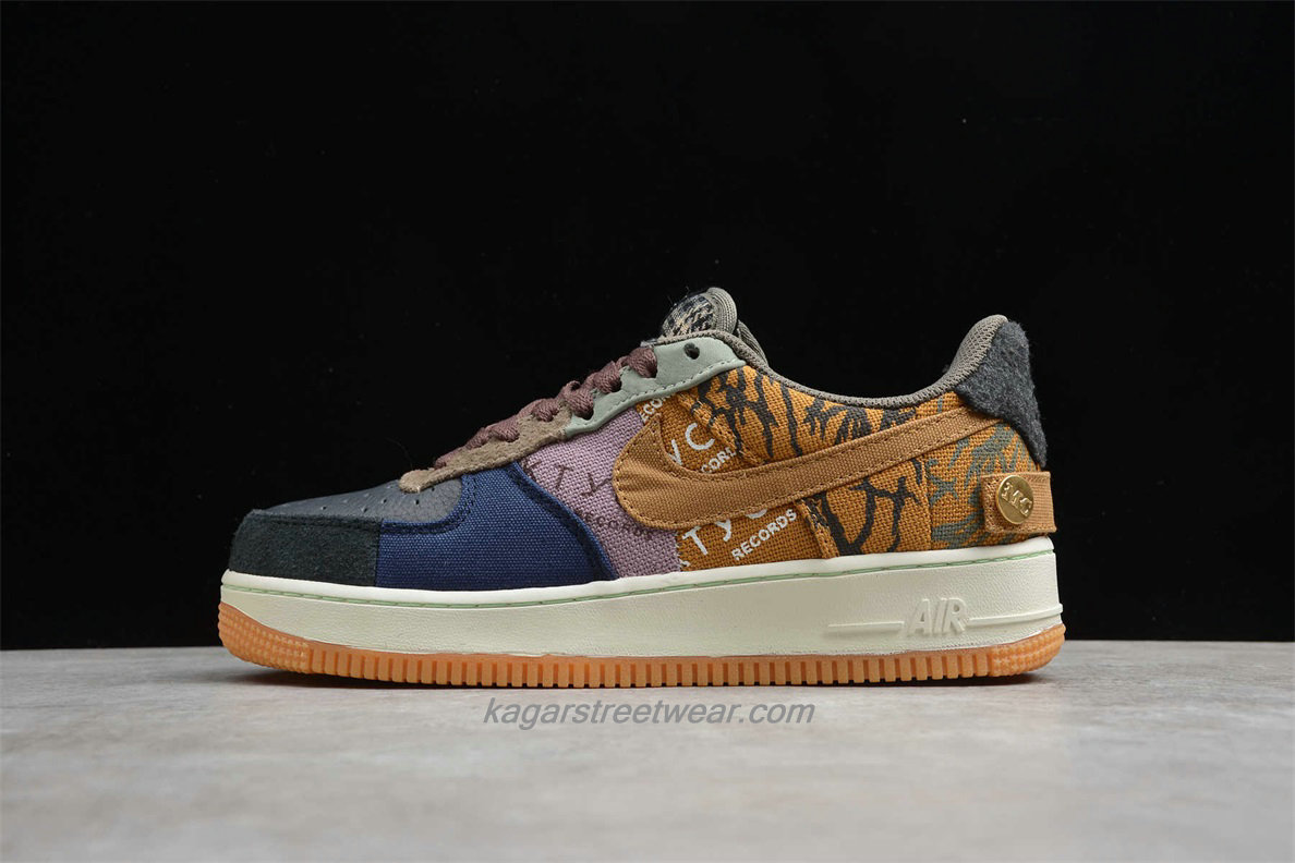 Chaussures Nike Air Force 1 Low TRAVIS SCOTT CN2405 900 Noir / Bleu / Kaki